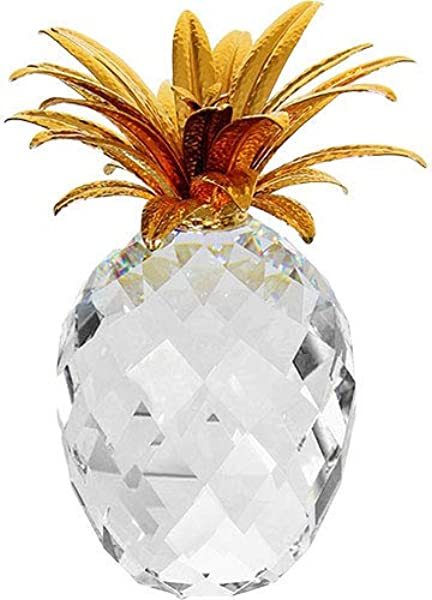 Swarovski Figurine Large Gold Pineapple