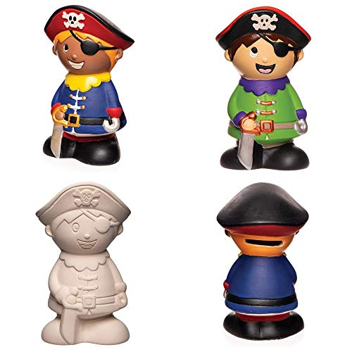 """Baker Ross Keramik-Spardosen """"Piraten"""" (2 Stück) – süße Spardosen für Kinder"""