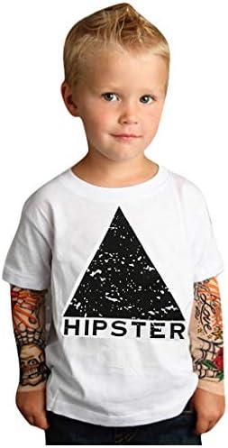 YiJee Bambini Tatuaggio Manica Lunga Maglie Autunno Casual Loose Magliette