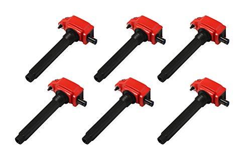 MSD 82736 Ignition Coil (, Red, Chrysler V6 '11-'16, 6-Pack)