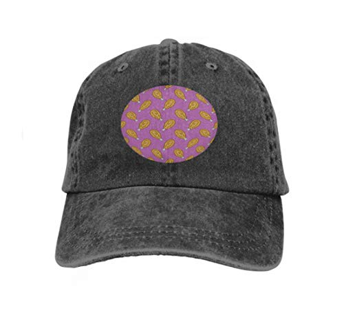 Xunulyn Vintage Jeans Baseball Cap fire Chicken Nugget Food Doodle Isolated Wallpaper backgroun...