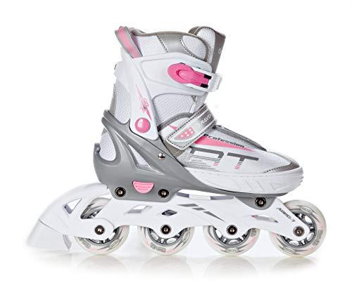 RAVEN Inline Skates Inliner Profession White/Pink verstellbar (35-39(22,5cm - 25cm))