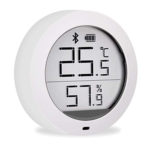 Dewanxin für Mijia Temperature and Humidity Monitor, digitales Thermometer, internes Hygrometer, für Mijia Temperatursensor, Bluetooth-Temperatur mit LCD-Bildschirm, Fernanzeige über Mi Home App