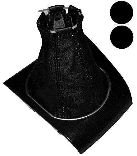 AERZETIX - Funda para palanca de cambios - 100% Piel Genuina - Color de Piel: Negro - Color de Costuras: Negro