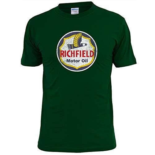 Unieke Tees heren Richfield benzine vintage motorolie t-shirt