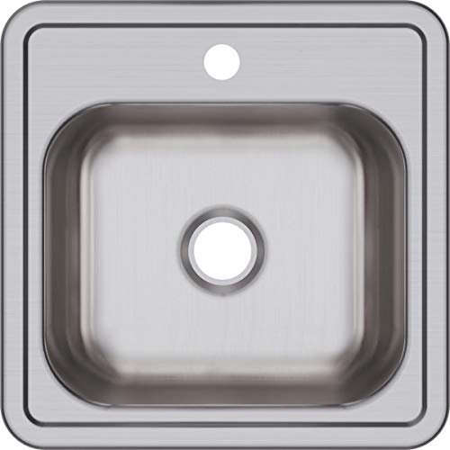 Elkay D115151 Dayton Single Bowl Drop-in Stainless Steel Bar Sink