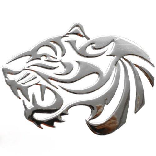 phil trade Aufkleber Sticker Silber Chrom 3D Emblem Tiger Auto Motorrad Styling DZ-27S