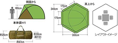 mont-bell(モンベル)アストロドームS/IV1122516