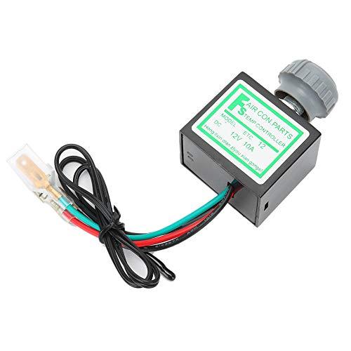 Termostato Kuuleyn A/C, 10A ABS Aire acondicionado para automóvil Interruptor de termostato electrónico Control de temperatura Accesorio automático Apto para la mayoría de modelos de automóviles(12V)