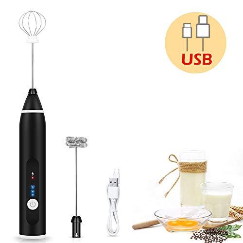 Multifunktions-Elektro-Milchaufschäumer, Milchaufschäumer Automatischer Eierschläger USB-Lademischer für Kaffee-Rührwerkzeuge
