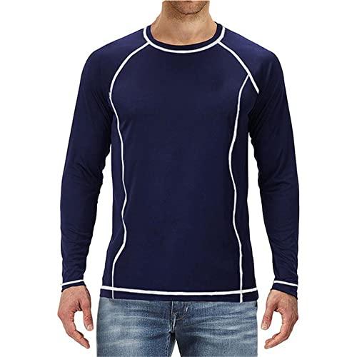 Camiseta para Hombre Camisa de impresión Delgada de otoño Camisa de Manga Larga