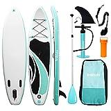 Triclicks Tabla Hinchable Paddle Surf/Sup Paddel Surf con Bomba, Mochila, Aleta Central...