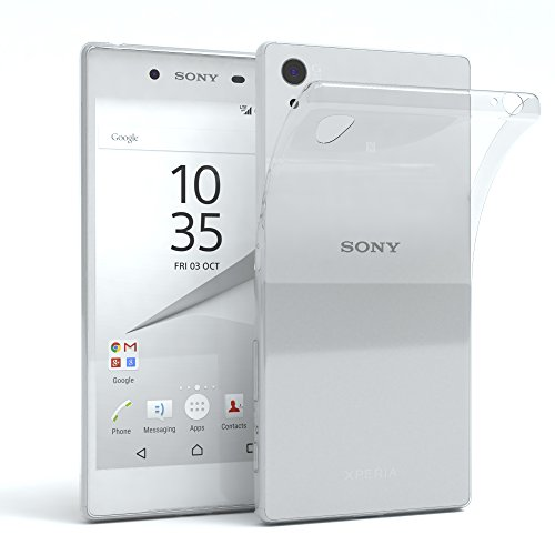 EAZY CASE Hülle kompatibel mit Sony Xperia Z5 Schutzhülle Silikon, Ultra dünn, Slimcover, Handyhülle, Silikonhülle, Backcover, Durchsichtig, Klar Transparent