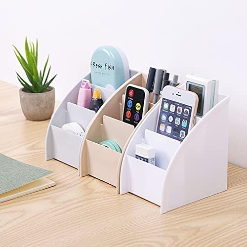 3 piezas Storage Box Organizador, Organizador de mando a distancia con 3 compartimentos, Organizador para mandos a distancia para escritorio, papelería, caja de almacenamiento para mando a distancia