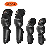 RIDBIKER Knee Pad Elbow pad for Kids Youth Protective Gear Set for Dirt Bike,Skating,Cycling,Black