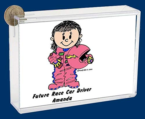 Personalized Friendly Folks Cartoon Caricature Bank: Future Fire Fighter – Female