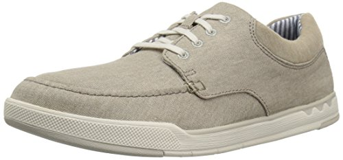 Clarks Men's Step Isle Lace Shoe, sand canvas, 7 Medium US