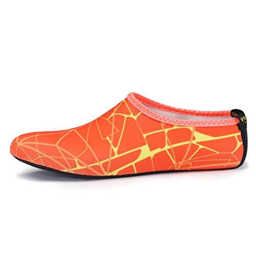 EFINNY Verano Zapatos de Agua para Hombres, Mujeres, Zapatos de Playa, Rayas, Coloridos Zapatos de natación en el mar, Antideslizantes, Buceo, Descalzos, Calcetines de Playa