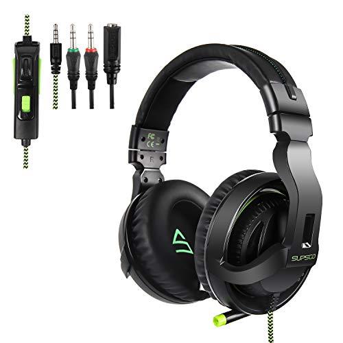Casque de jeu pour Xbox One, PS4 avec micro Xbox One, lumières LED et suppression du bruit pour PS4, PS4 Pro, Xbox One, Xbox One S, ordinateur portable, Mac et tablette