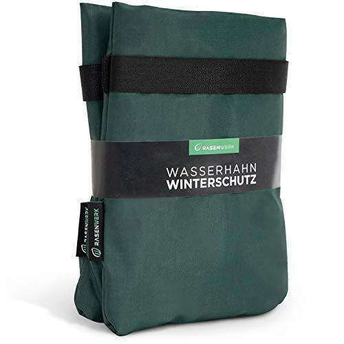 RASENWERK® - Cubierta protectora para grifos de invierno - Resistente a las heladas - Grifo exterior a prueba de heladas - Fieltro de invierno - 2 unidades - Verde