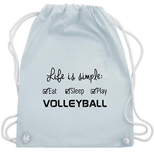 Shirtracer Volleyball - Life is simple Volleyball - Unisize - Pastell Blau - volleyball sachen - WM110 - Turnbeutel und Stoffbeutel aus Baumwolle