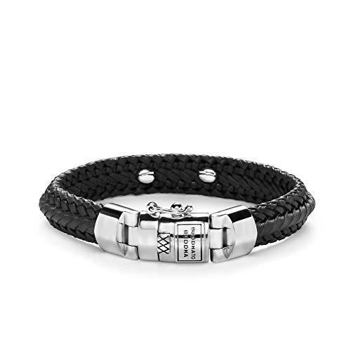 Buddha to Boeddha unisex armband 925 zilver 21 zwart 32003765