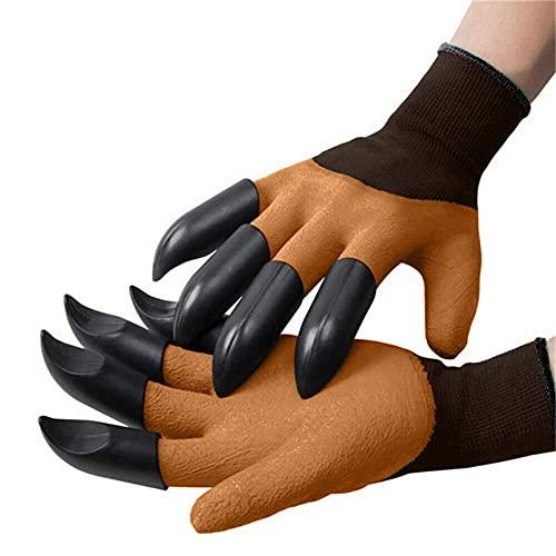 Wizsoula Gartenhandschuhe mit Krallen, Gartenhandschuhe, Dornresistente, Sichere Garden Genie-Handschuhe, mit Krallen zum Graben und Pflanzen, zum Graben Pflanzen von Gartengeschenken