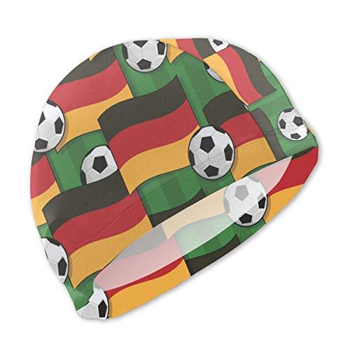 dilidy Patriots Deutschland Flagge Fußball Badekappen Kinder wasserdicht Bequeme Badekappe