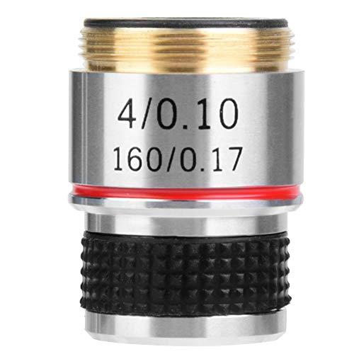 4X 185 Biologisches Mikroskop Achromatisches Objektiv 160/0.17 Für Metallurgisches Mikroskop Achromatische Objektivteile Für Optische Instrumente Umrüstobjektiv