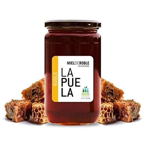 LAPUELA Miel de Roble. Miel de origen natural desde Asturias - Aroma claramente malteado, muy intenso y floral (750 gr)