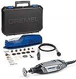 Dremel 3000 - Multiherramienta, 130 W, kit con eje flexible y 25 accesorios, velocidad variable 10.000-33.000 rpm para tallar, fresar, amolar, limpiar, pulir, cortar, lijar y grabar (Versión Español)