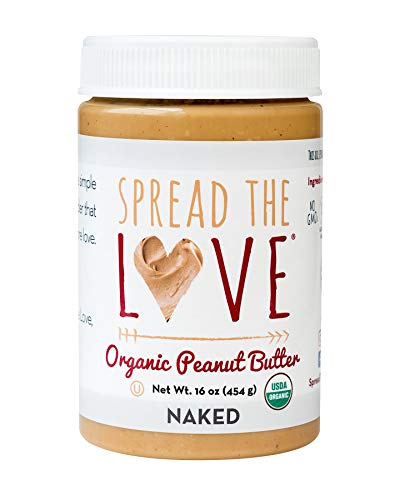 Spread The Love NAKED Organic Peanut Butter, 16 Ounce