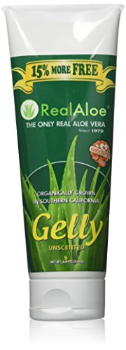 Real Aloe Aloe Vera Gelly - Unscented 8 oz (230 ml) Gel