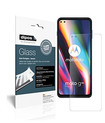 dipos I 2X Panzerfolie matt kompatibel mit Motorola Moto G 5G Plus Schutzfolie 9H Bildschirmschutz-Folie (bewusst Kleiner als das Glas, da Dieses gewölbt ist)
