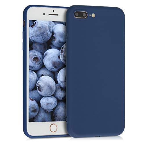 kwmobile Cover per Apple iPhone 7 Plus / 8 Plus - Custodia in Silicone TPU - Backcover Protezione Posteriore- Blu Marino