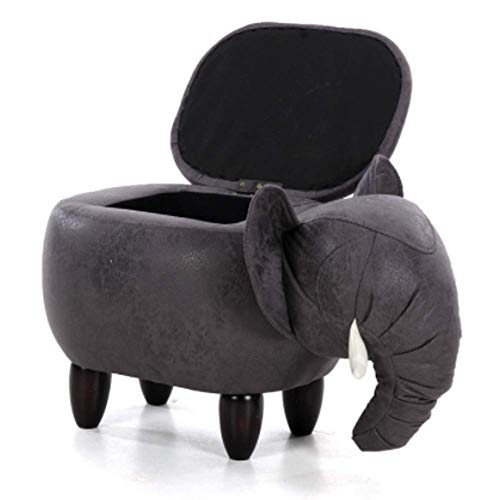 Animal Storage Stool,Footstool Shoe Stool Pouf Chair Box Leather Sofa Ottoman Bean Bag Kid Toys Solid Wood Nordic Home Deco Furniture Seat Covers Bedroom