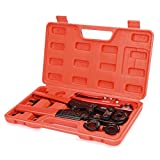 IWISS IWS-FAS Compact PEX Pipe Crimping Tool Kit for F1807 3/8'', 1/2'', 3/4'', 1'' Copper Rings with Cutter Suits