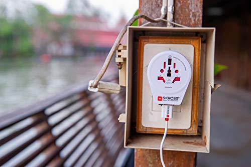 SKROSS Länderstecker World to Europe USB Reiseadapter