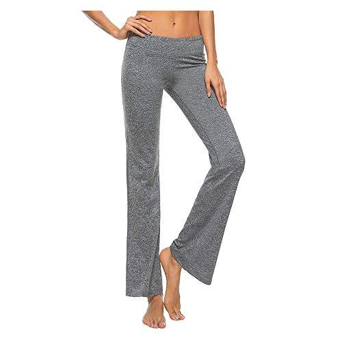 Sfigur Yogahose Damen lang Yoga Hose Yogahosen Joga Pilates Sport Pants Trainingshose Jogahose für Frauen