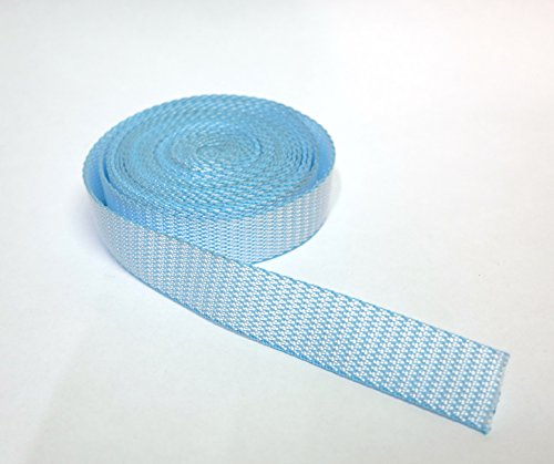 Artefizio Band Nylon riem voor helmen, tassen, rugzakken, mode en accessoires/blauw van verschillende lengtes (2 m, 5 m, 10 m, 20 m, 50 m, 100 m) // h cm 3,0 - dikte 1,8 mm