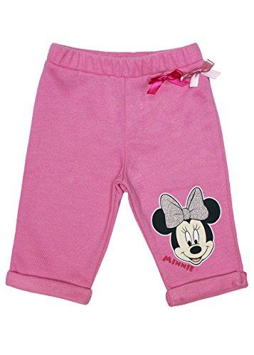 Disney Baby Mädchen Baby-Hose Minnie Mouse GRÖSSE 62, 68, 74, 80, 86, 92, 98, 104, 110 Spiel-Hose Freizeit-Hose Jogging-Hose mit Schleifchen Baumwolle Farbe Grau, Größe 80