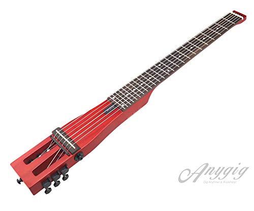 Anygig Klassische Gitarre, tragbar, 6 Bünde, Nylonsaiten, 64,8 cm Mensur, Backpacker Cherry-neue Version
