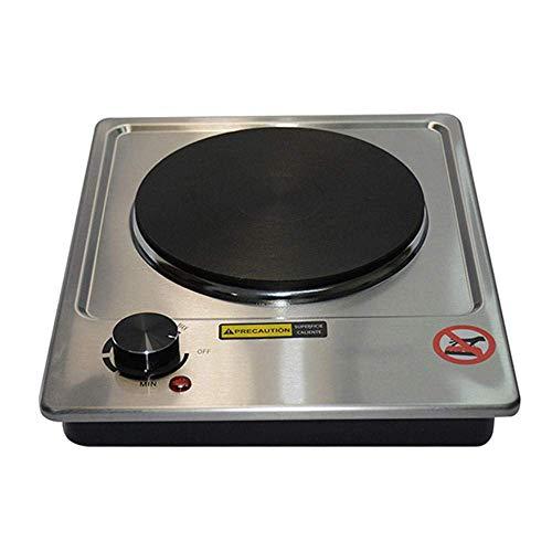Hot Plate for elektrische Koch tragbare Einzelkochfeld, Einzel Stainless steelHob, leicht zu reinigen, kompatibel mit Allen Kochgeschirr, 1500W-Edelstahl YCLIN (Color : Stainless Steel)