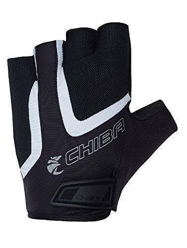 Chiba Gel Air Handschuhe, schwarz/weiß, Größe M