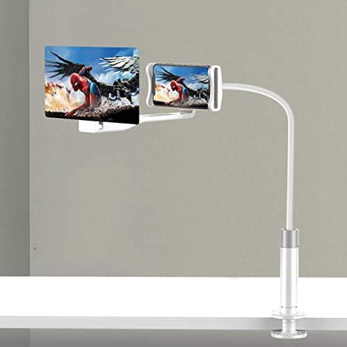 XBSLJ Lupa de Pantalla HD, Amplificador de Pantalla de teléfono Inteligente 3D, Amplificador de teléfono móvil Tableta ampliada, Accesorios de Soporte para teléfono móvil proyector de 8 Pulgadas