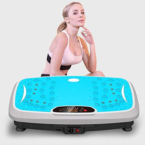 Fnho Plataforma Vibratoria 3D para,Plataforma vibración para Fitness y,Máquina de Adelgazamiento multifunción, vibración Body-Blue_Supreme