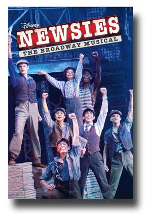 Newsies Poster Broadway Musical Promo 11 x 17 inches Cast Fists in Air
