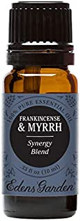 Edens Garden Frankincense & Myrrh Essential Oil Synergy Blend, 100% Pure Therapeutic Grade (Highest Quality Aromatherapy Oils- Skin Care & Stress), 10 ml