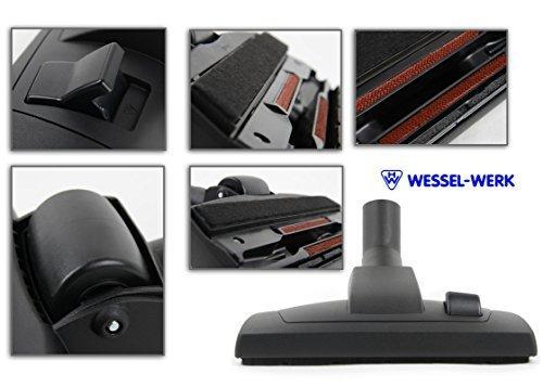 Buse de sol et de brosse parquet 2en 1brosse d'aspirateur avec insert en feutre original de marchandise Wessel Werk marques compatible Miele Aspirateur traîneau compact C2Allergy Ecoline EEK A
