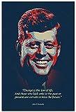 Leinwand Druck Poster John F. Kennedy Motivierende Zitate